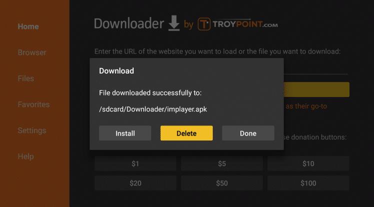 downloader delete