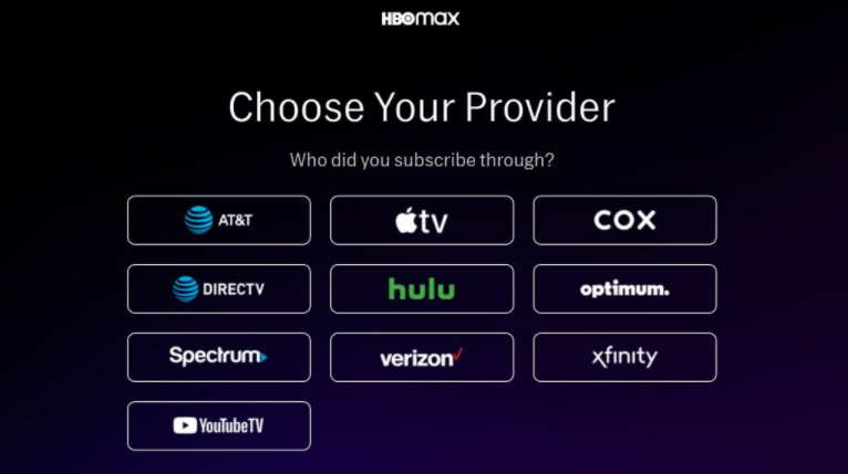 hbo max providers