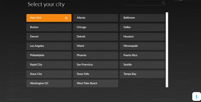 locast city select