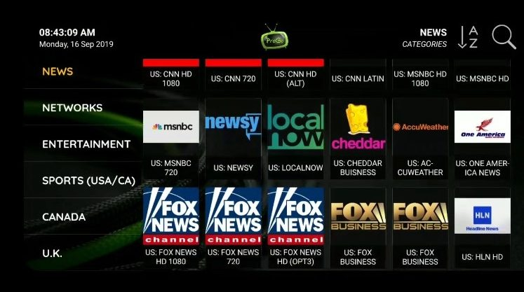 progo tv channels