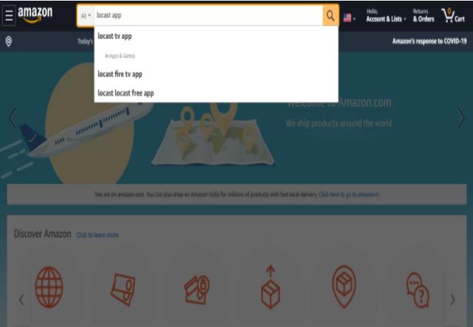amazon search locast app