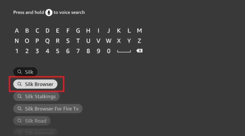 search silk browser