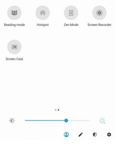notification panel